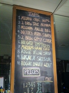 Biero Bar Beer List