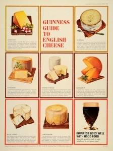 Guinness Cheese ad by David Ogilvy