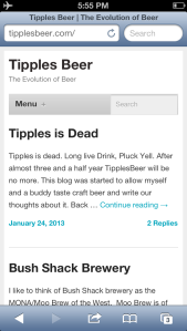 Tipples is no more