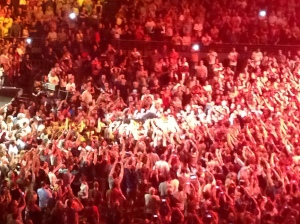Bruce crowd surfing