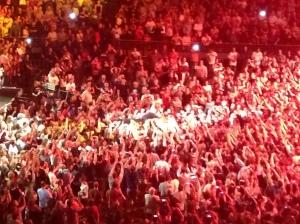 Bruce crowd surfing