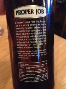 Proper Job Beer Label hyperbole