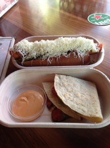 El Loco Hot Dog and Quesadilla