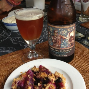 Dogfish Head and crumble