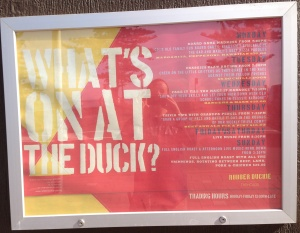 What's on at the Duck?