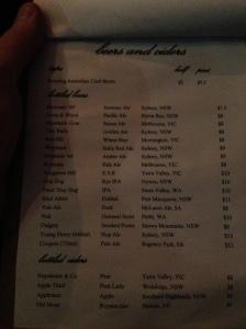 The Little Guy beer list
