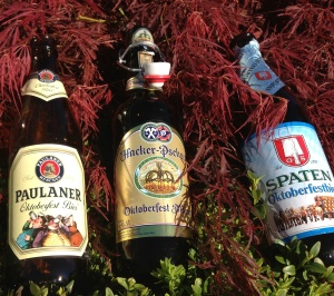 A trio of Oktoberfestbier